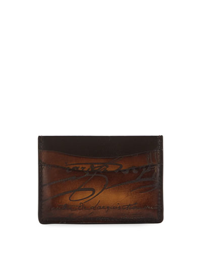 Men's Scritto Leather Card Case