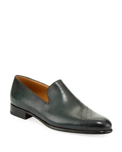 Men's Cambridge Scritto Leather Slip-On Dress Shoes