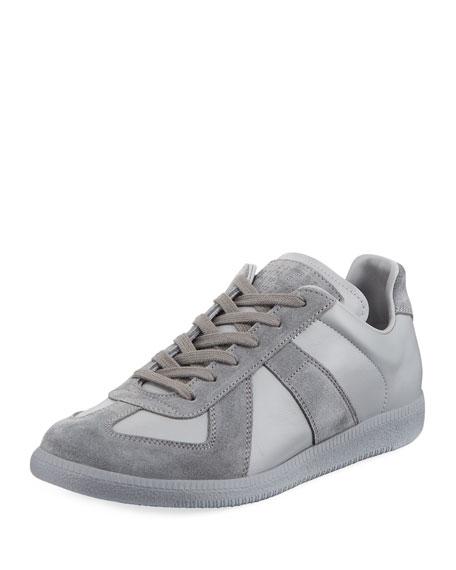 Replica Men's Leather & Suede Low-Top Sneakers