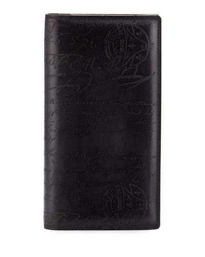 Men's Ebene II Scritto Leather Long Wallet