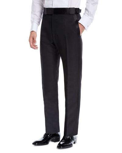 Men's Atticus Flat-Front Tuxedo Pants