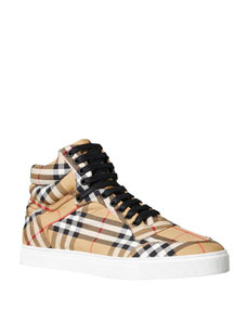Men's Reeth Signature Check Canvas High Top Sneaker by Burberry