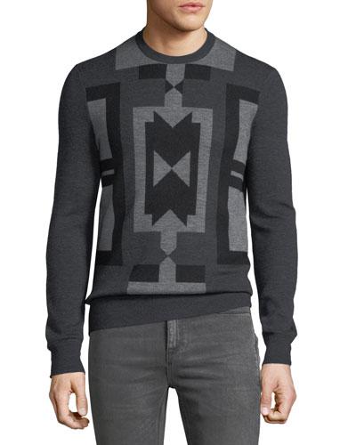 Men's Deco Modernist Wool Sweater