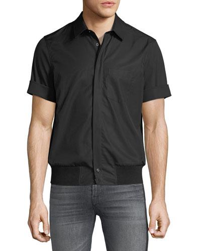 Men's Rib-Trim Short-Sleeve Shirt