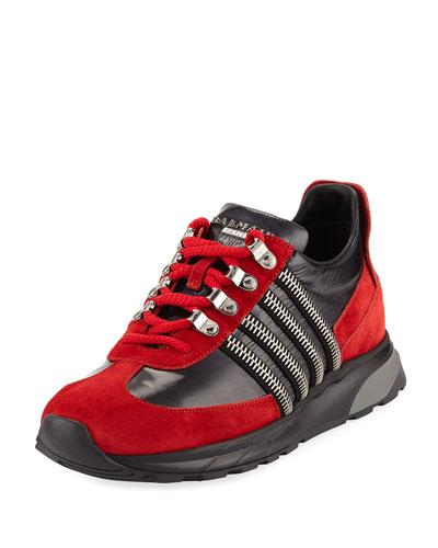 Men's Eben Leather Low-Top Sneakers