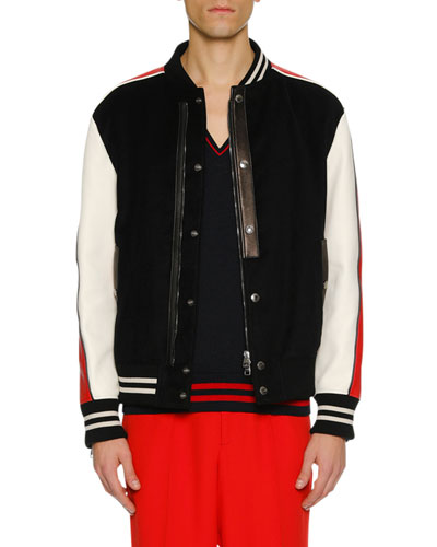Men's Colorblock Varsity Jacket