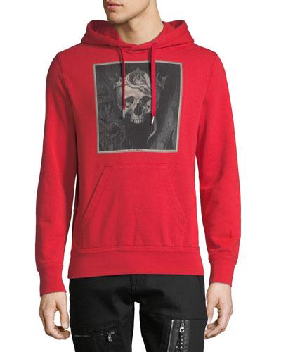 Men's Skull Graphic-Print Hoodie Sweatshirt