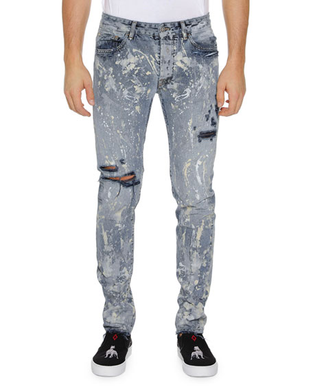 Marcelo Burlon DARK SPLATTER SLIM FIT JEANS