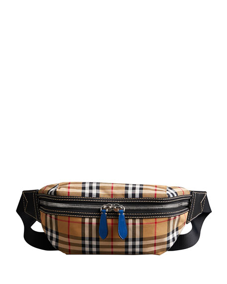 9d3a632c8071 Burberry Men s Sonny Check Crossbody Belt Bag Fanny Pack
