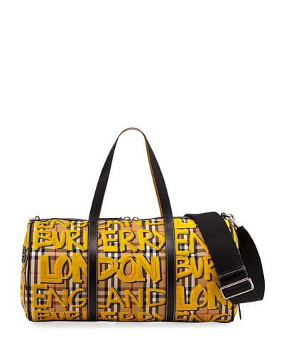 Men's Signature Check Hold-All Duffel Bag