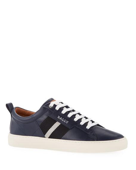 fe6c3f4b Calf Low Helvio Bally Leather Top Men's Sneakers 7wBwq6gZ