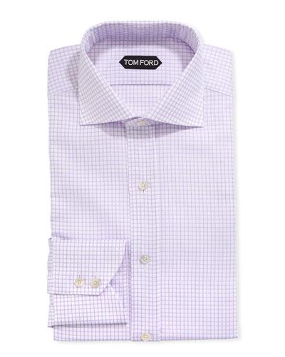 Men's Tattersall Cotton Dress Shirt