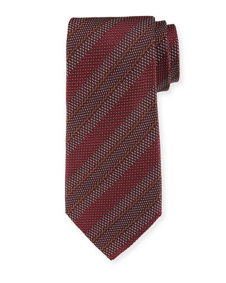 Giorgio Armani Tonal Diagonal Stripe Silk Tie