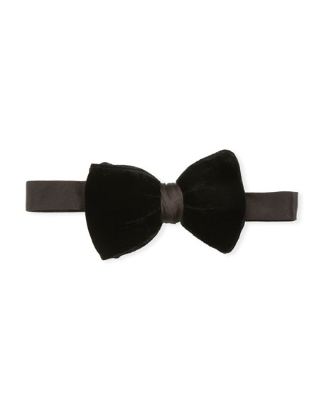 Giorgio Armani Men's Velvet Bow Tie, Black