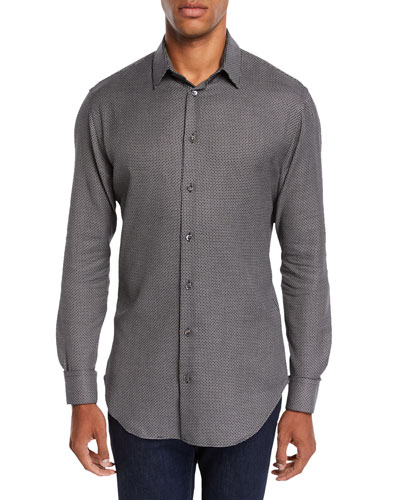 Men's Micro-Design Sport Shirt