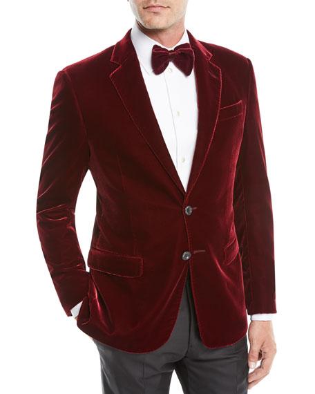 Giorgio Armani Men S Velvet Two Button Sport Coat Jacket