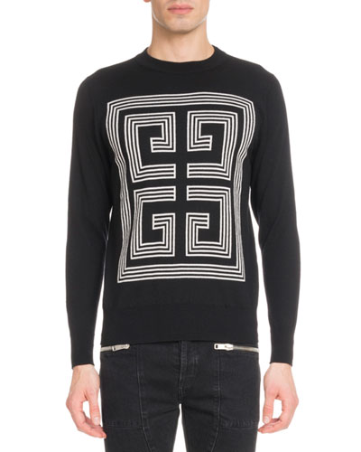 Men's 4G Logo Intarsia Wool Sweater