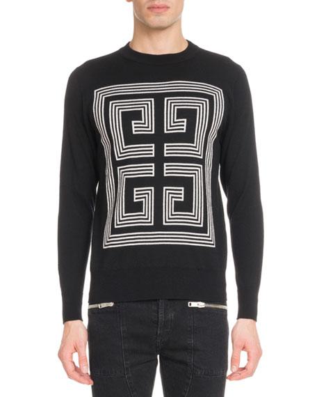 Men's 4G Logo Intarsia Wool Sweater