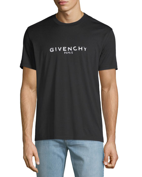 db3f317fb Givenchy Men's Destroyed Logo Graphic T-Shirt