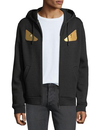 Men's Gold Bugs Zip-Front Hoodie Sweatshirt