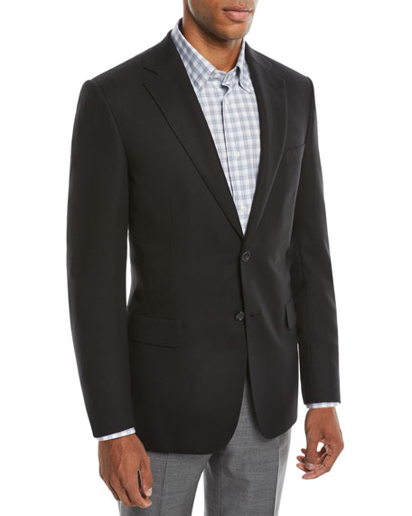 BRIONI Men'S Tic Cashmere Two-Button Blazer Jacket in Black