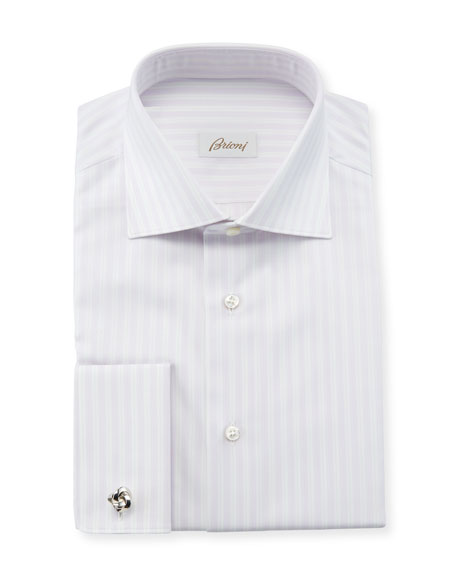 Brioni Men's Multi-Stripe Dress Shirt