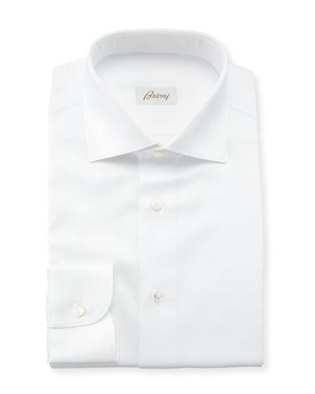 Brioni Men's Solid Textured Dress Shirt