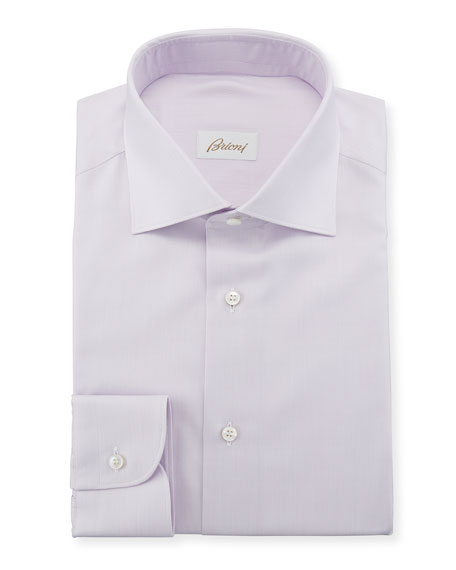 Men's Solid Cotton/Silk Dress Shirt