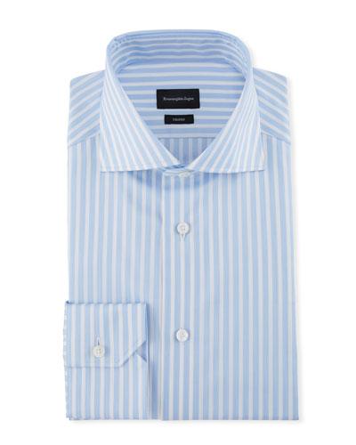 Men's Wide Stripe Dress Shirt