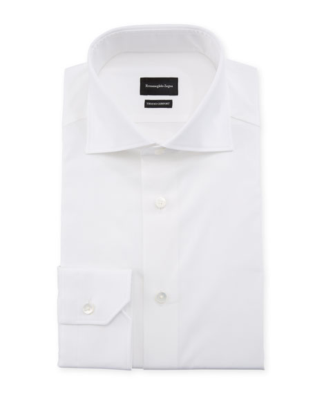 Ermenegildo Zegna Men's Trofeo Comfort Dress Shirt, White