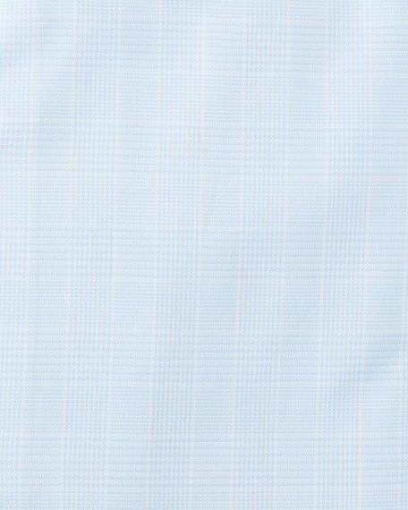 Men's Glen Plaid Cotton Dress Shirt