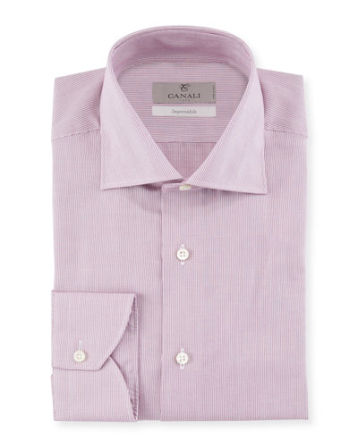 Men's Micro Stripe Cotton Dress Shirt
