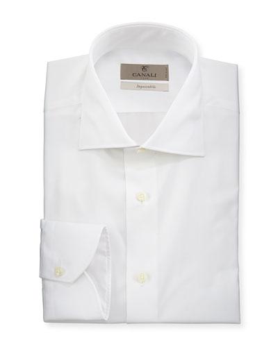 Men's Impeccabile Solid Dress Shirt  White