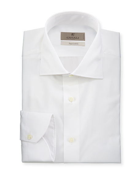 Canali Men's Impeccabile Solid Dress Shirt, White