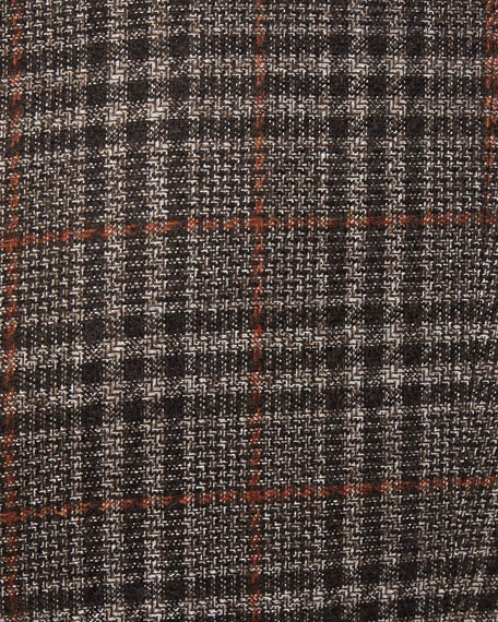 Men's Prince of Wales Plaid Two-Button Jacket