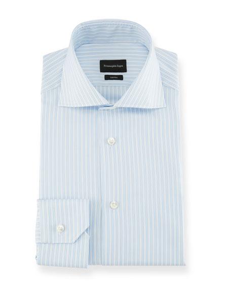 Ermenegildo Zegna Men's Trofeo Two-Tone Stripe Dress Shirt