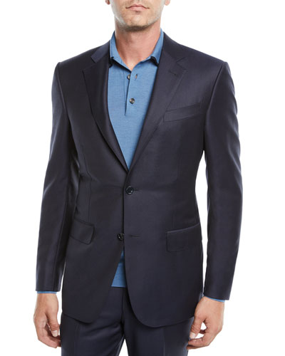 Men's Narrow Stripe Two-Piece Wool Suit