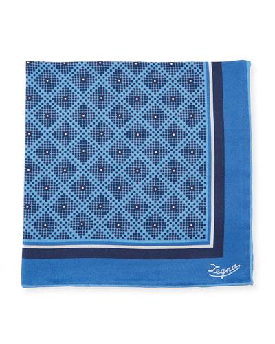 Diamonds Silk Pocket Square
