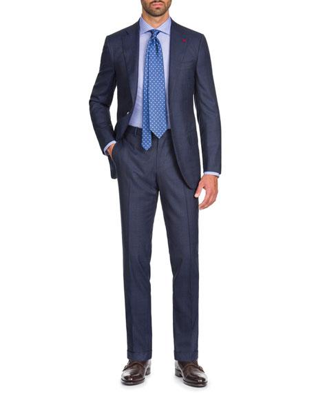 Isaia Men's Macro Plaid Two-Piece Wool Suit