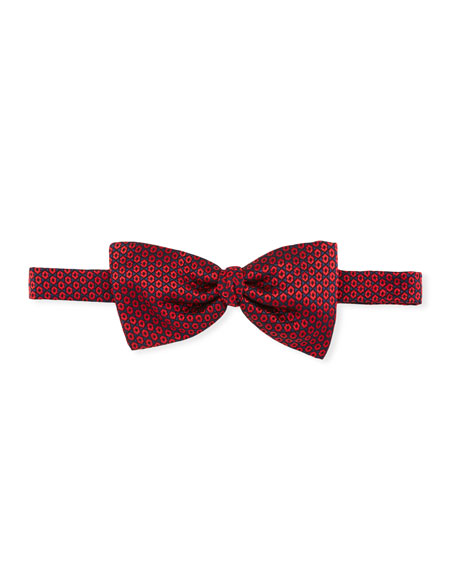 Ermenegildo Zegna Hexagons Silk Bow Tie