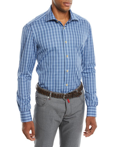 Men's Mulri Check Long-Sleeve Sport Shirt