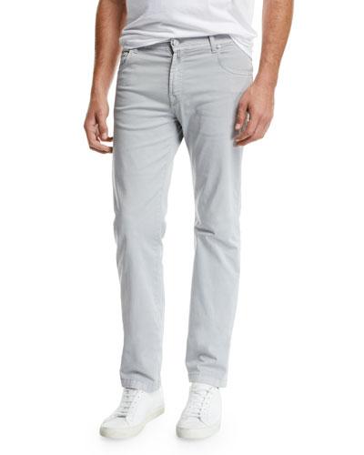 Men's Stone-Wash 5-Pocket Jeans