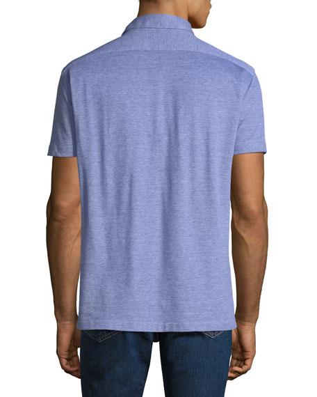 Men's Oxford Heathered Polo Shirt