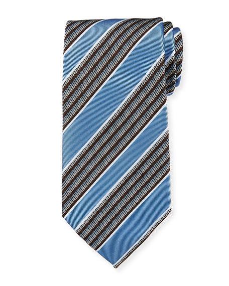 Ermenegildo Zegna Multi-Stripe Silk Tie