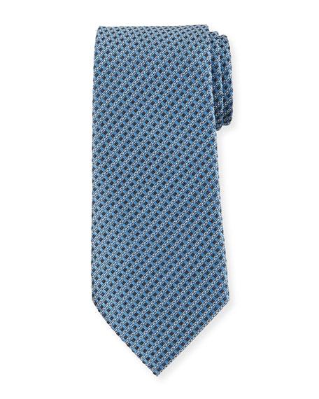 Ermenegildo Zegna Link Stripe Silk Tie