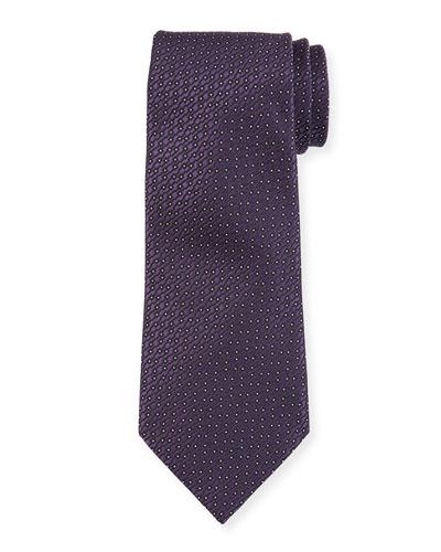 Micro Dot Silk Tie, Purple