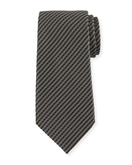 Ermenegildo Zegna Micro-Stripe Silk Tie