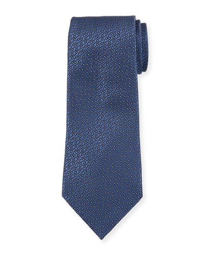 Micro Dot Silk Tie, Blue