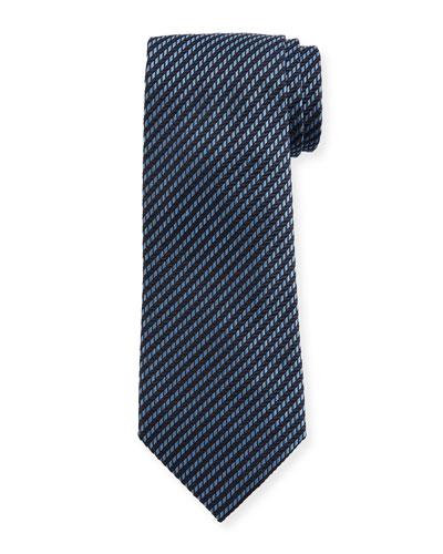 Micro Stripe Silk Tie