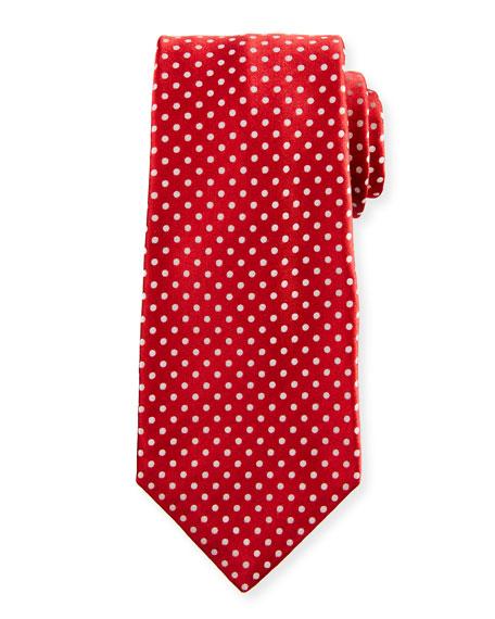 Kiton Medium-Dot Silk Tie